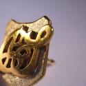 Pin Initialen - Pin teilweise vergoldet Wappenform