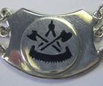 Uhrenkette Wandergeselle Seitenemblem Zunftzeichen
