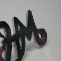Pin Initialen - Pin Schriftzug poliert