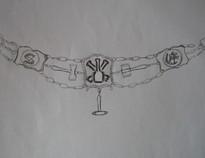 Entwurf Uhrenkette Steinmetz