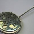 Meisternadel Zunftzeichen Perlmutt Silber