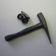 Ohrstecker Hammer Silber geschwärzt